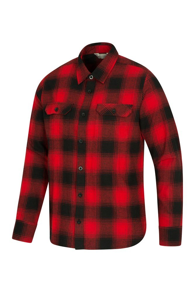 fc23b0454ce Trace Mens Flannel Long Sleeve Shirt