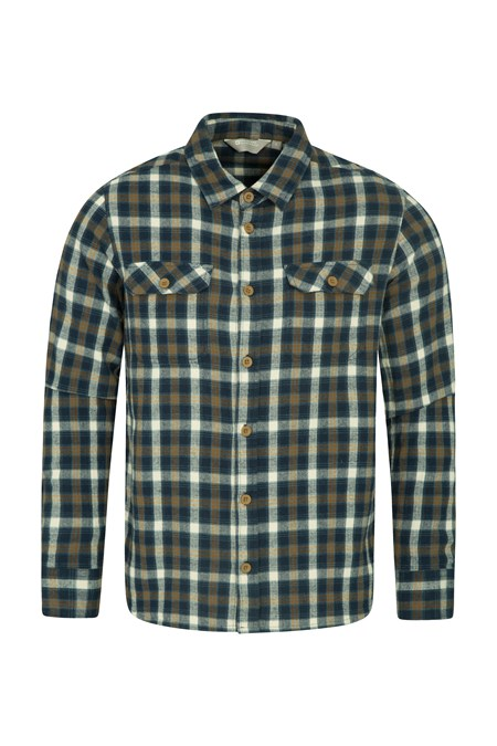 be414fbe43 Trace Mens Flannel Long Sleeve Shirt   Mountain Warehouse GB