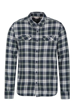Trace Mens Flannel Long Sleeve Shirt