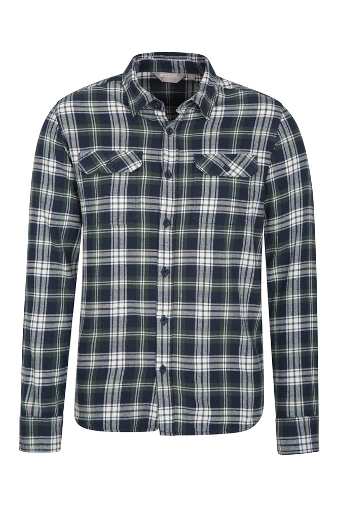 XS Mountain Warehouse Holiday Mens Shirt in Navy with Short Sleeved