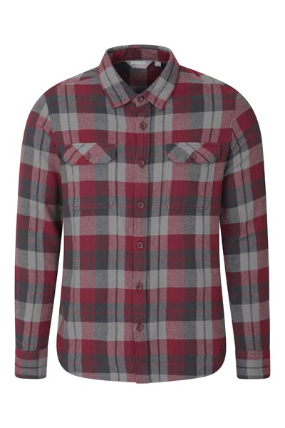 Trace Mens Flannel Long Sleeve Shirt - Purple