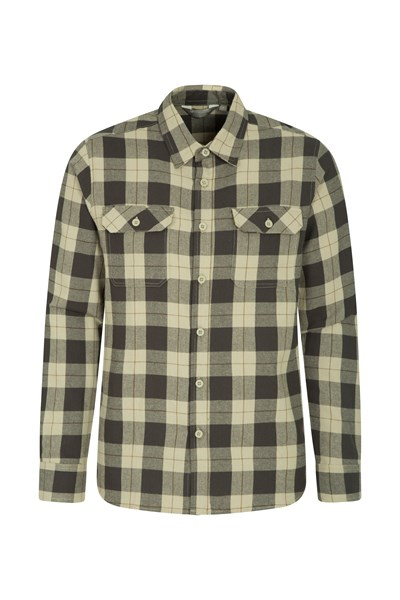 Trace Mens Flannel Long Sleeve Shirt - Yellow