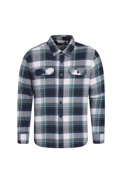 Trace Mens Flannel Long Sleeve Shirt - Teal