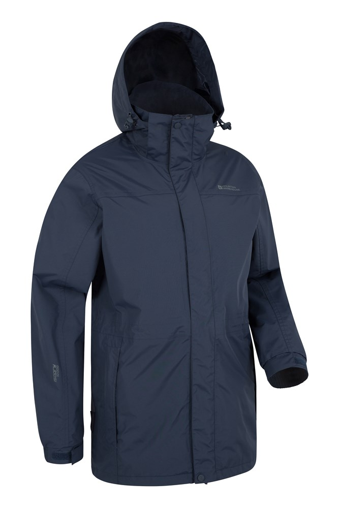 Glacier Extreme Mens Long Waterproof Jacket | Mountain Warehouse US