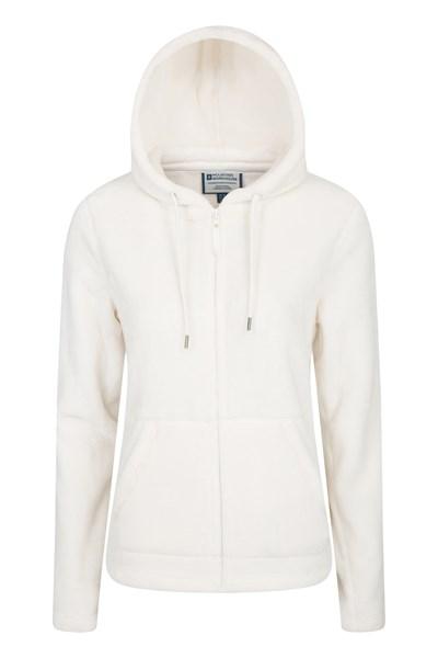Snaggle Womens Hooded Fleece - Cream