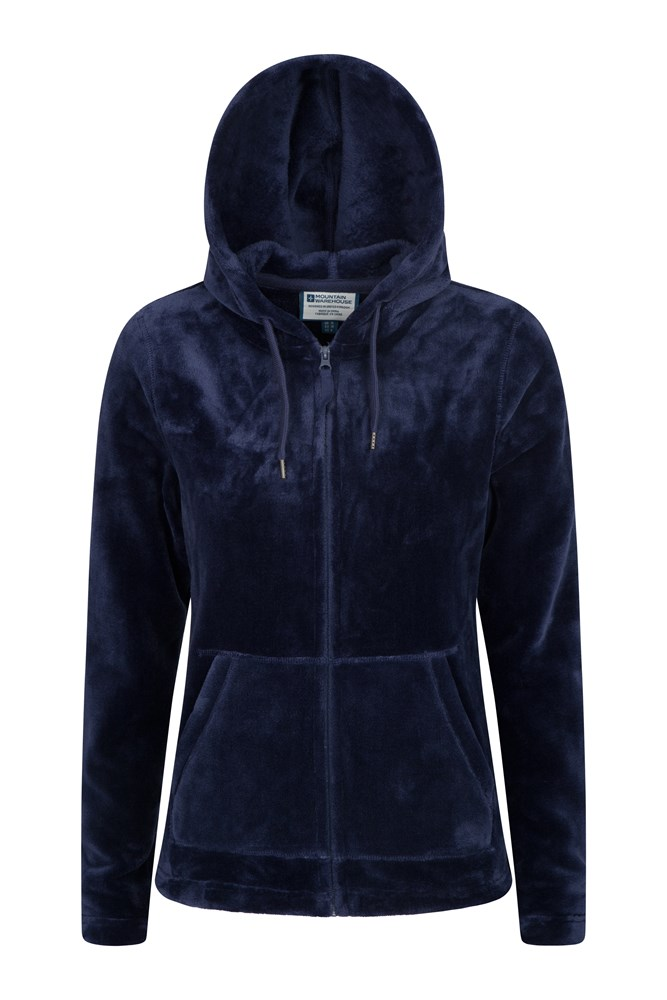 Snaggle Womens Hooded Fleece - Navy