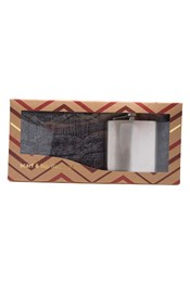 Hip Flask and Scarf Gift Set