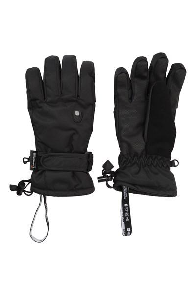 Extreme Waterproof Womens Ski Gloves - Black
