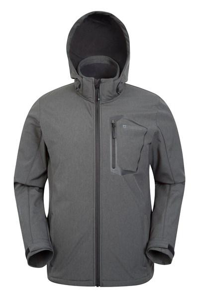 Glover Mens Showerproof Softshell - Grey