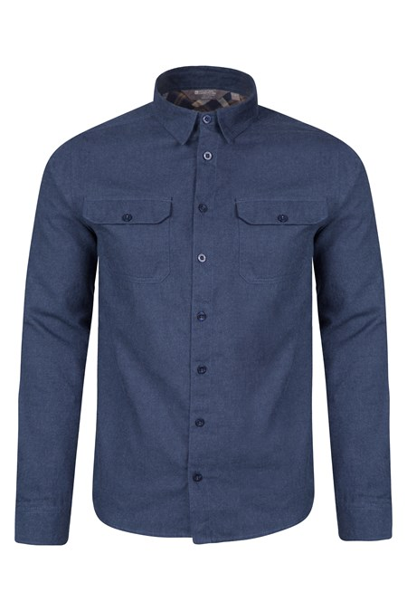Track mens flannel long sleeve shirt mountain warehouse gb for Mens long sleeve flannel shirts