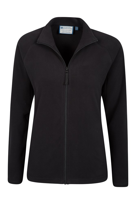Women Ultra Soft Breathable Full-Zip Fleece Jersey Jacket