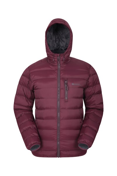 Link Mens Padded Jacket - Burgundy