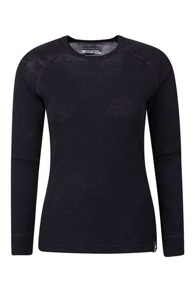Merino Womens Thermal Top - Black