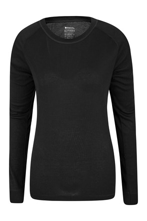 Merino Womens Round Neck Thermal Top