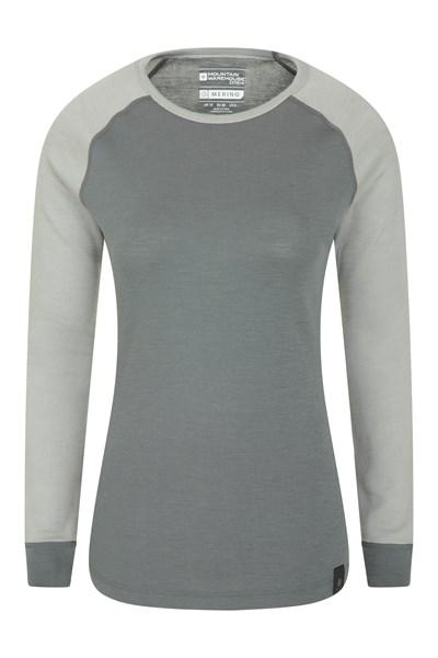 Merino Womens Thermal Top - Grey