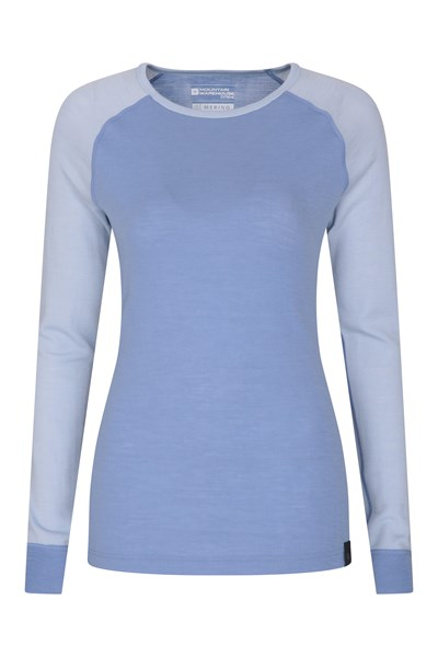Merino Womens Thermal Top - Blue