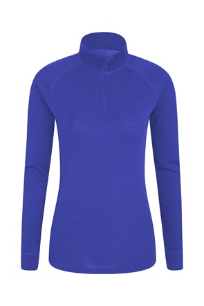 Merino Womens Long Sleeved Zip Neck Top