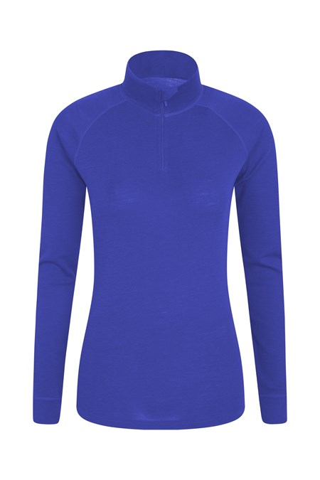 023559 MERINO WOMENS LS ZIP NECK TOP