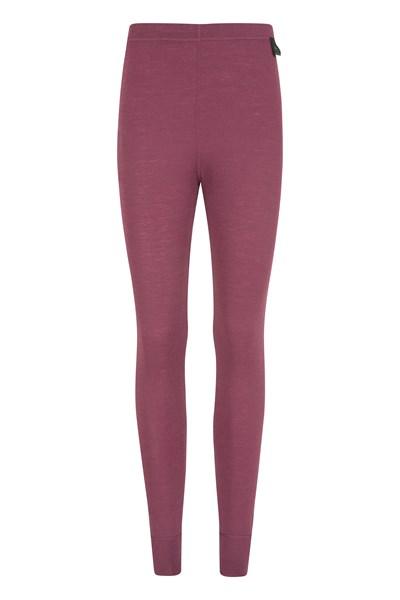 Merino Womens Pants - Burgundy