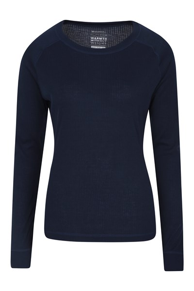 Talus Womens Long Sleeved Top - Navy