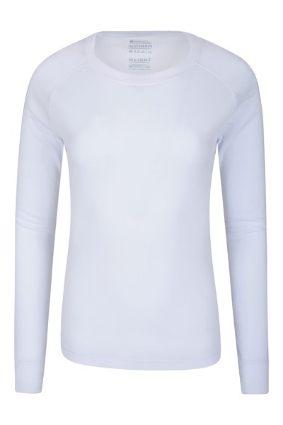 Talus Womens Long Sleeved Top - White