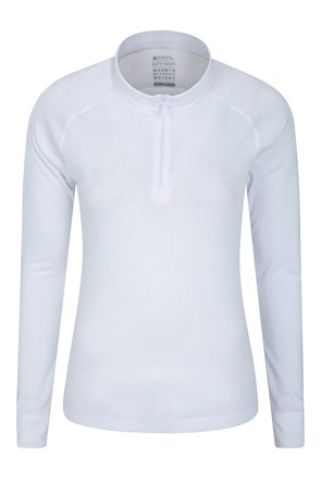 Talus Womens Zipped Turtle Neck Top