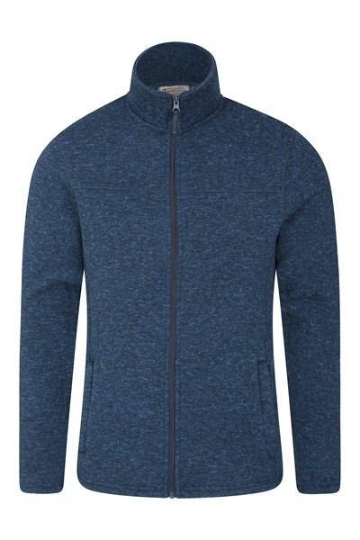 Idris Mens Full Zip Fleece - Blue