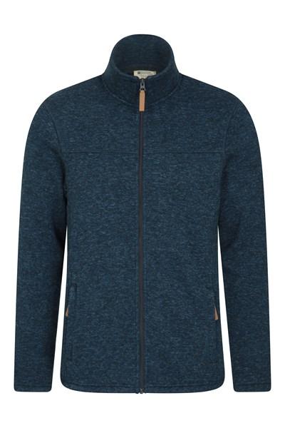 Idris Mens Full Zip Fleece - Navy