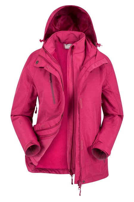 023748 BRACKEN MELANGE WOMENS 3 IN 1 JACKET