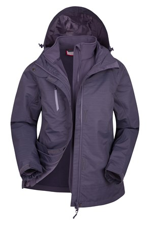 Bracken Melange Womens 3 in 1 Waterproof Jacket