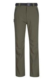 Belted Slim Line 4 Way Stretch Mens Trouser