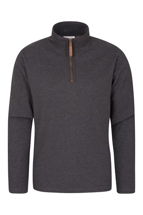 Beta Mens Zip Neck Top