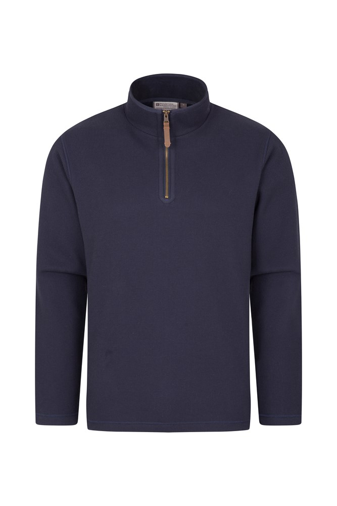 66bed35a293 Beta Mens Zip Neck Top