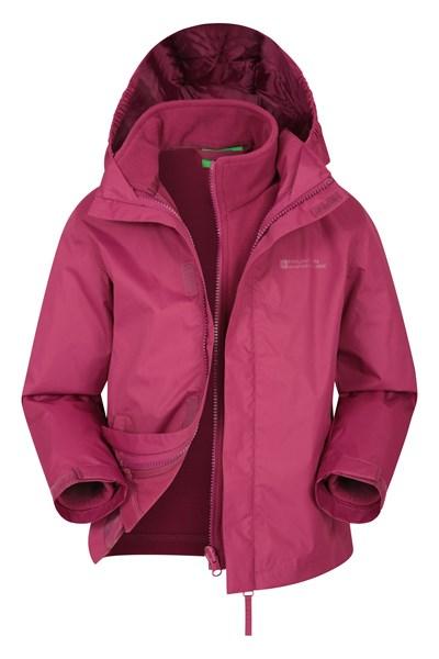 Fell Water-resistant Kids 3 in 1 Jacket - Pink