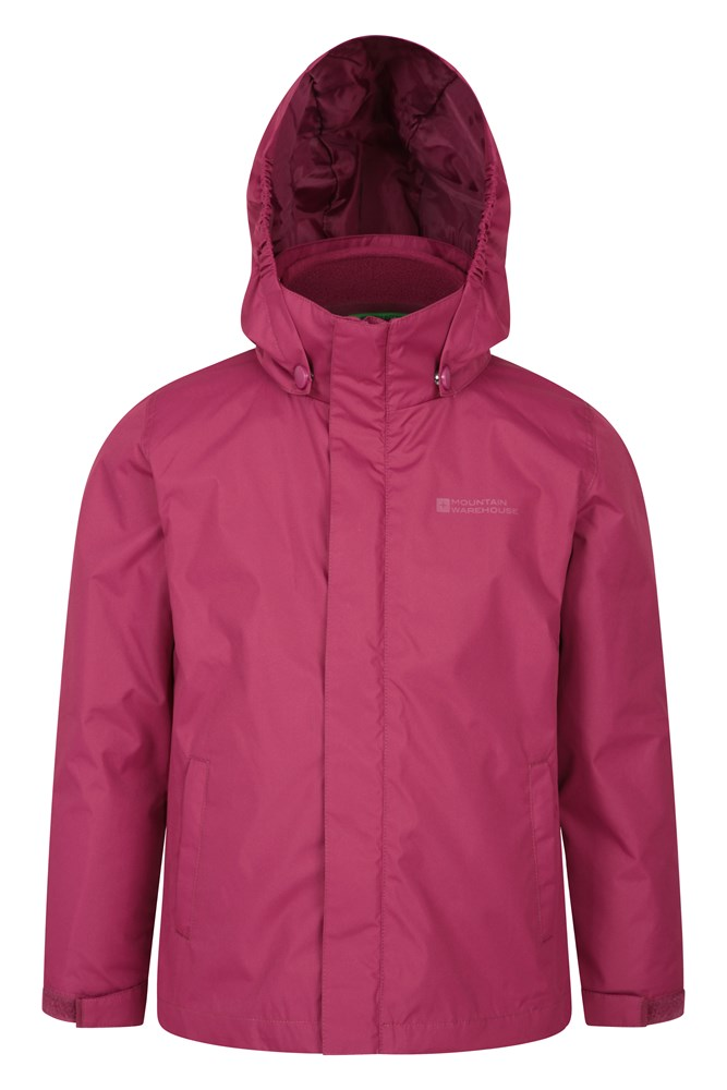 Mountain Warehouse Kids Fell 3 in 1 Jacket Waterproof Soft and Warm Childrens