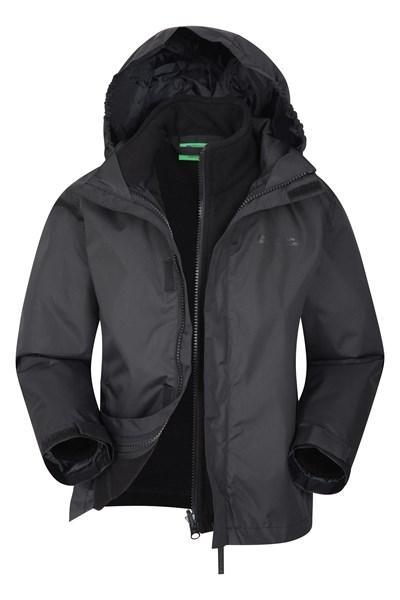 Fell Water-resistant Kids 3 in 1 Jacket - Black