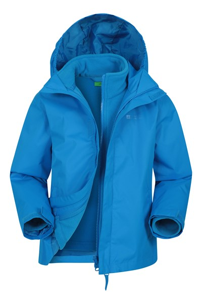 Fell Water-resistant Kids 3 in 1 Jacket - Blue