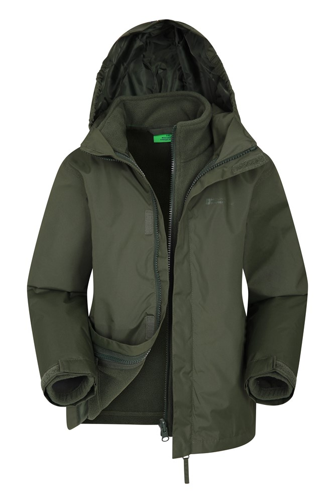 Fell Water-resistant Kids 3 in 1 Jacket - Green