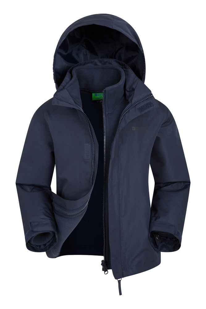 Fell Water-resistant Kids 3 in 1 Jacket - Navy