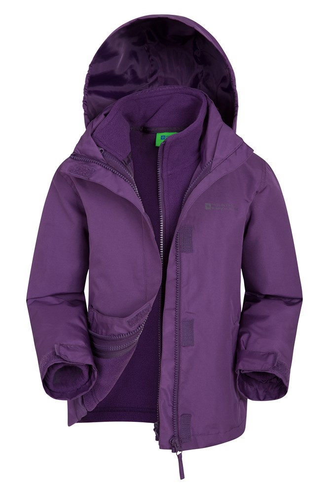 Fell Water-resistant Kids 3 in 1 Jacket - Purple