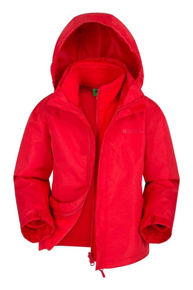 Fell Water-resistant Kids 3 in 1 Jacket - Red
