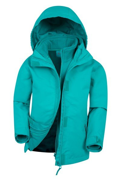 Fell Water-resistant Kids 3 in 1 Jacket - Teal