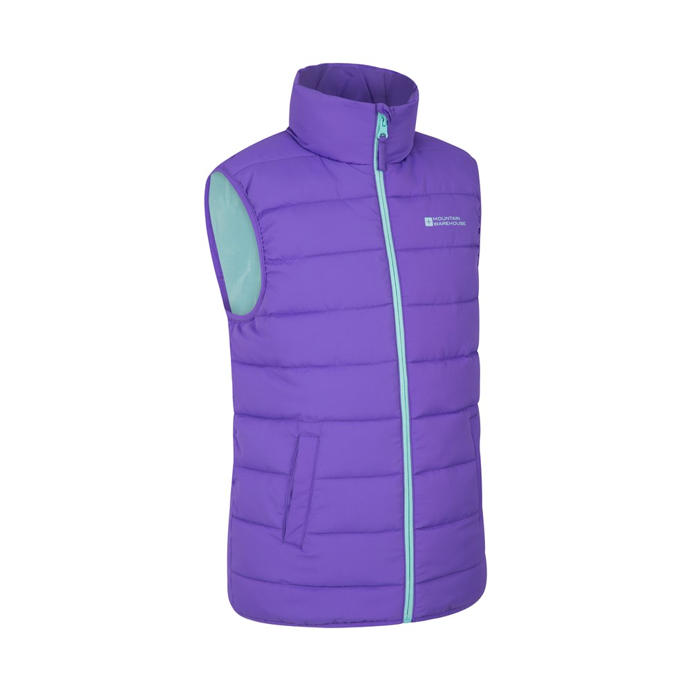Mountain Warehouse Boys Padded Gilet with Water Resistant Fabric and Microfibre