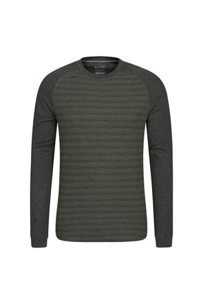 Waffle Mens Long Sleeve Stripe T-Shirt