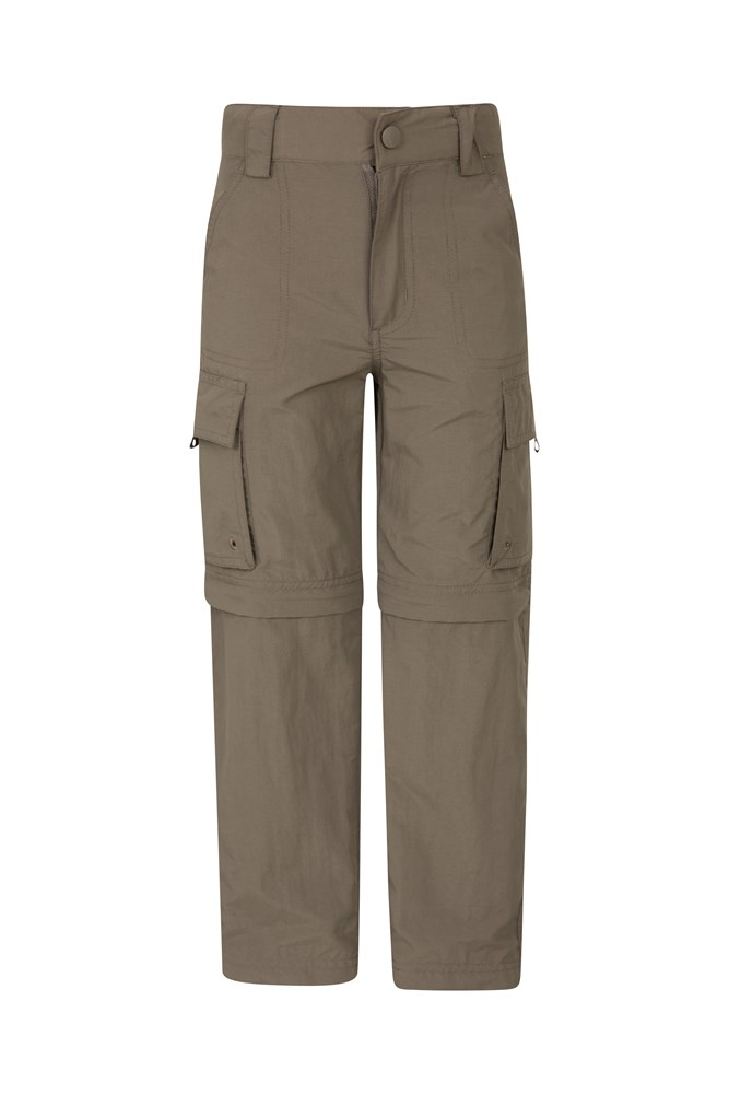 Steve Backshall Kids Trekker Convertible Trousers - Green