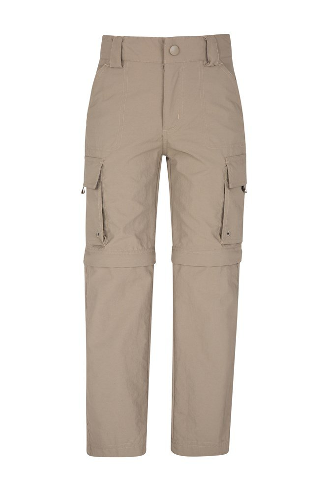 Steve Backshall Kids Trekker Convertible Trousers - Beige