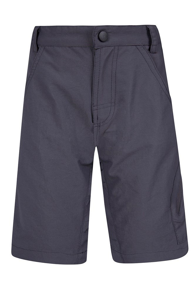 Off Road 2 In 1 Kids Bike Shorts - Grey
