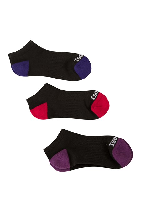 024070 ISOCOOL WOMENS TRAINER SOCK 3-PACK
