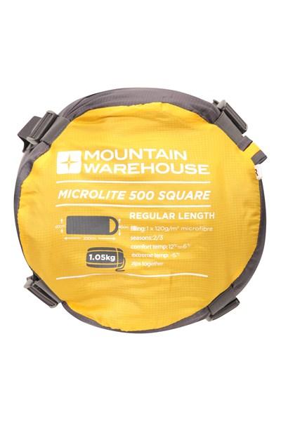 Microlite 500 Square Sleeping Bag - Grey