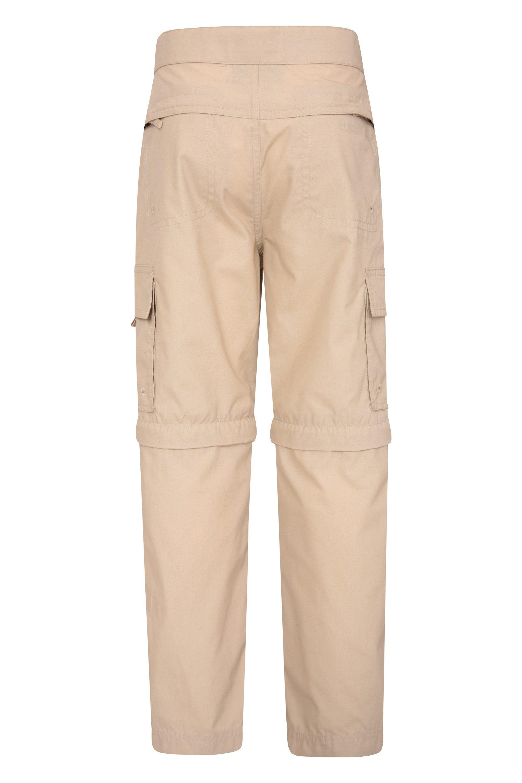 Mountain Warehouse Active Kids Convertible Hiking Pants Zip Off Shorts